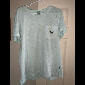Mint green large Victoria's Secret Pink tee